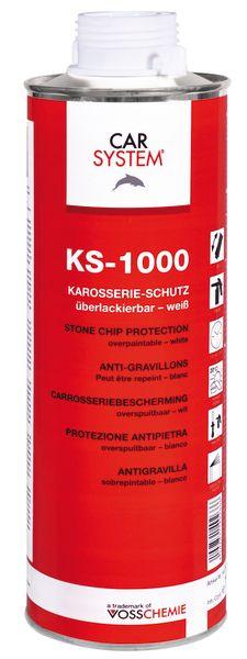 """Carsystem """"KS-1000"""". Антигравийное покрытие окрашиваемое белое, 1л."""