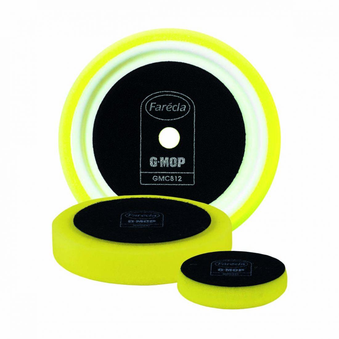 """FARECLA G Mop 3"""" Yellow Compounding Foams Полировальник жёлтый, средний, 80мм"""
